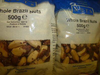 whole brazil nuts in bags