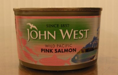wild pacific salmon in tin