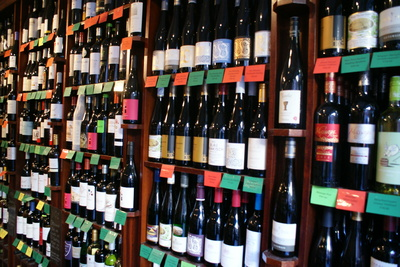 wine from many different countries