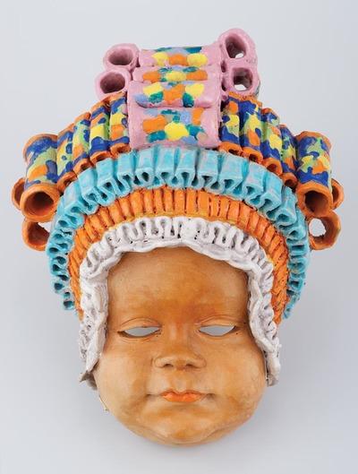 Falidísz - Inka (?) gyermek fejdísszel