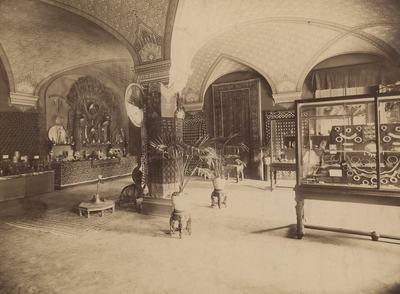 Kiállításfotó - indiai kiállítás az Iparművészeti Múzeum Andrássy úti épületében