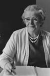 Miss Ethel Pritchard spent forty six years in the Caernarfonshire education office