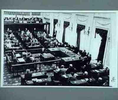 Regeringsverklaring kabinet Drees I Plaats personen aangegeven bij foto Kopie van exemplaar van W Drees
