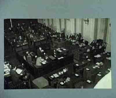 De ministerraad in de Tweede Kamer Plaats personen aangegeven bij foto