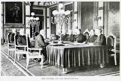 Group portrait Alexander Willem Frederik Idenburg, JW Bergansius, JC de Marez Oyens