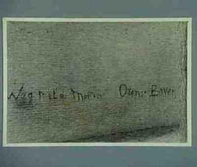 Serie van twee foto's van teksten op de muur van de school