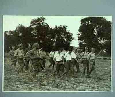 Soldaten der Nationalisten fuhren Gefangene ab an der San Sebastián-Bilbao Front