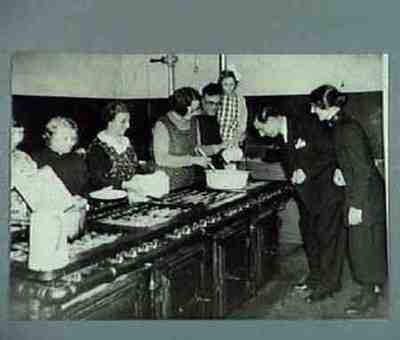 The Basque Governement delegate in London inspects the kitchens at the Salvation Army Congress Hall in Clapton