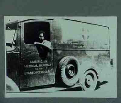Ambulance of the American volunteers. Copied from collection Museum für Deutsche Geschichte