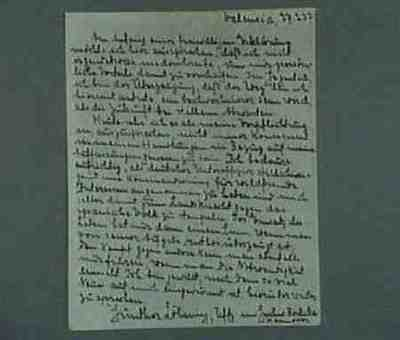 Statement by a German pilote made prisoner by the Republican army