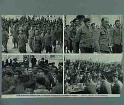 Italian prisoners from the Guadalajarafront. Series of 3 photos