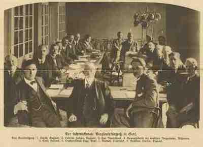 Group portrait C Bartuel, Frank Hodges, Otto Hue