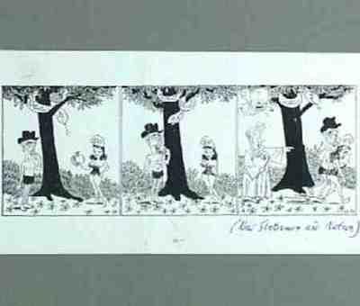 Caricature print Anthony Eden, Dag Hammarskjöld