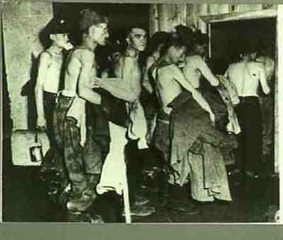 German prisoners of war returning. Series of 5 photos