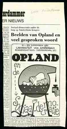 Caricature print Joop den Uyl