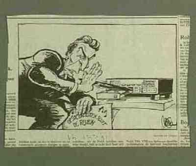 Caricature print Wim Kok