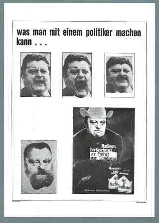 Caricature poster Franz-Josef Strauss