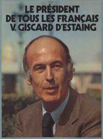 Poster Valéry Giscard d'Estaing