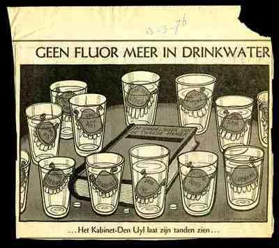 Geen fluor meer in drinkwater