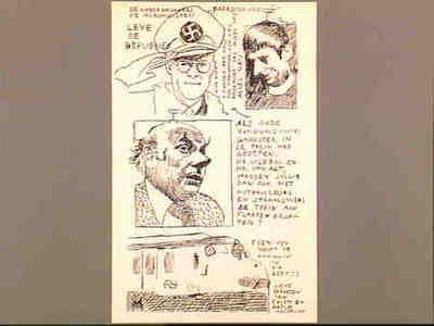 Caricature print Joop den Uyl, Dries van Agt