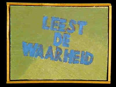 Afmeting incl. lijst. Uitsnede uit een schilderij bestaande uit twee delen die zijn vernietigd. Het oorspronkelijke schilderij is gebruikt voor een CPN-kalender uit 1979. Zie ook no. 1999/32 fol