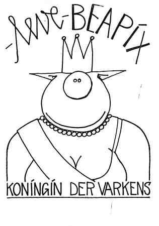 Caricature poster  Beatrix