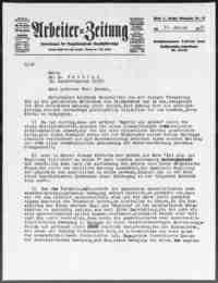 Pollak, Oscar  (  Arbeiter-Zeitung  , Vienna).   1933.
