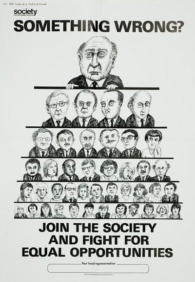 Equal opportunities - SCPS poster, c 1985