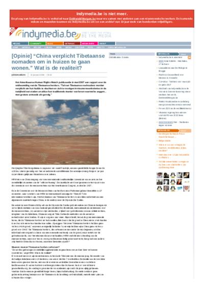 """[Opinie] """"China verplicht Tibetaanse nomaden om in huizen te gaan wonen."""" Wat is de realiteit?"""