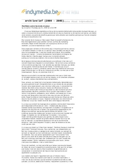 Manifeste contre les droits d'auteur