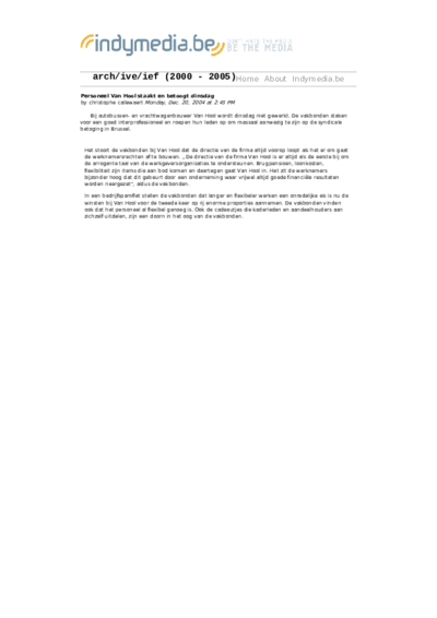 Personeel Van Hool staakt en betoogt dinsdag