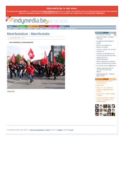 Manifestation - Manifestatie