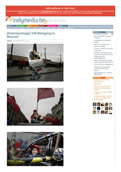 [Fotoreportage] VW Betoging in Brussel