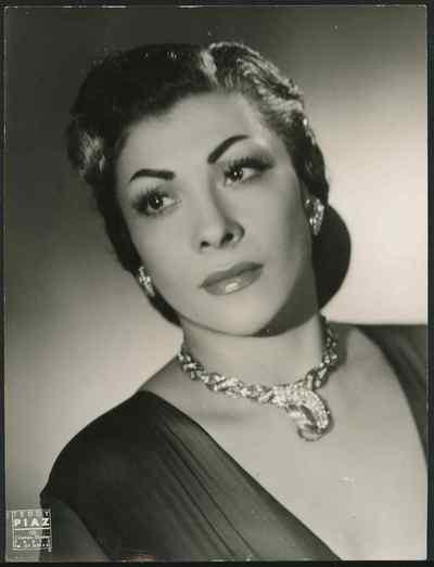 Portrait de la chanteuse juive algérienne Line Monty, non daté