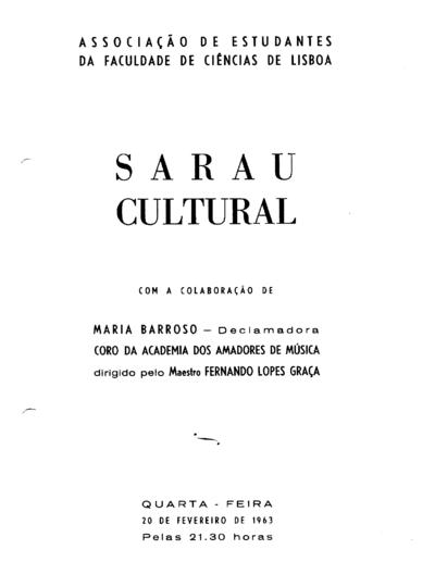 Sarau Cultural da Associação de Estudantes da Faculdade de Ciências de Lisboa