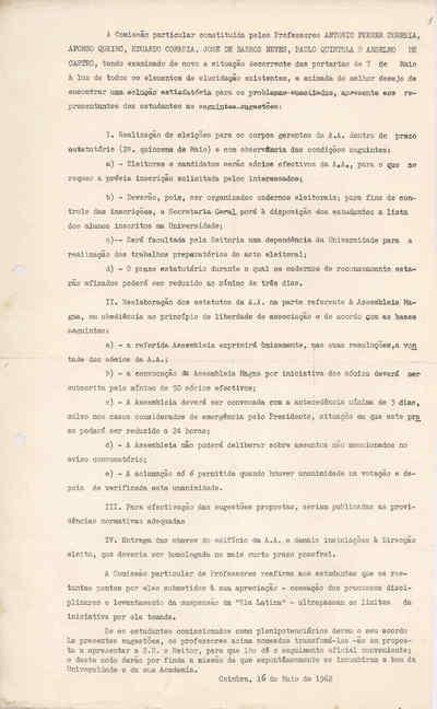 Comissão Particular de professores da Universidade de Coimbra