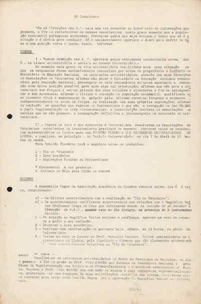 Comunicado nº 9 das Associações de Estudantes de Lisboa