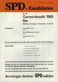 SPD-Kandidaten für die Gemeindewahl 1969 [Serie]