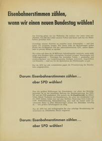 Eisenbahnerstimmen zählen, wenn wir einen neuen Bundestag wählen!