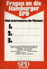 Fragen an die Hamburger SPD