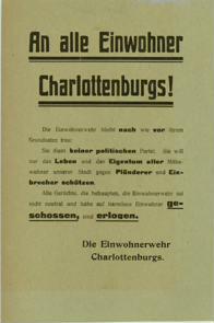 An alle Einwohner Charlottenburgs!