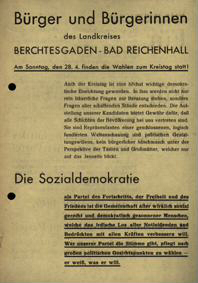 Bürger und Bürgerinnen des Landkreises Berchtesgaden - Bad Reichenhall