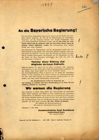 An die Bayerische Regierung!