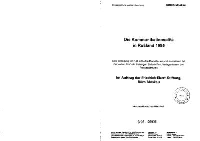 Die Kommunikationselite in Rußland 1995