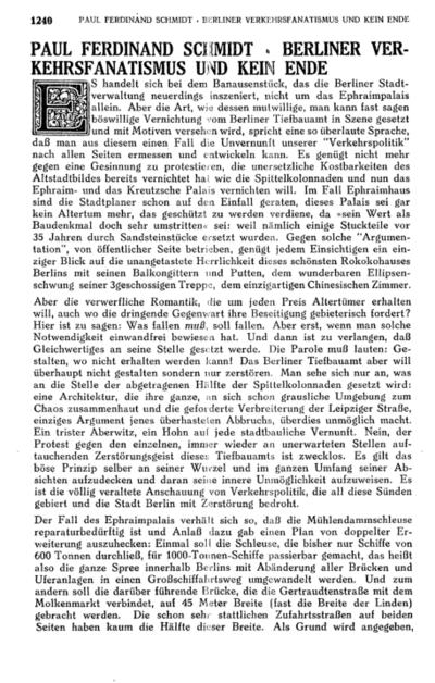 Berliner Verkehrsfanatismus und kein Ende