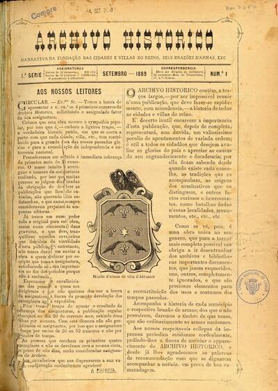 Archivo historico de Portugal: narrativa da fundação das cidades e villas do reino, seus brasões d'armas, etc.