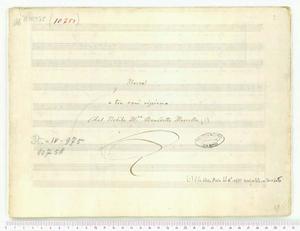 Messe (Messa / a tre voci ripiena / Del Nobile M.ro Benedetto Marcello)