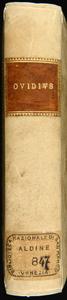 Quae hoc volumine continentur. Ad Marinum Sannutum epistola qui apud græcos scripserint metamorphoseos. Aldo priuilegium concessum ad reip. literariæ utilitatem. Orthographia dictionum græcarum per ordinem literarum. Vita Ouidij ex ipsius operib. Index fabularum et cæterorum, quæ insunt hoc libro secundum ordinem alphabeti. Ouidii Metamorphoseon libri quindecim
