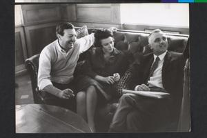 Paolo Spinola e Giovanna Ralli sul set di La fuga (Paolo Spinola, 1964)