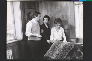 Paolo Spinola, Giovanna Ralli e Anouk Aimée sul set de La fuga (Paolo Spinola, 1964)